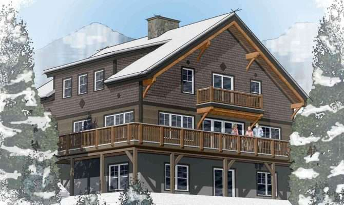 Classic Chalet Barn Home Floor Plans Layout Davis