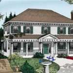 Classic Georgian Colonial House Plan Growing Families