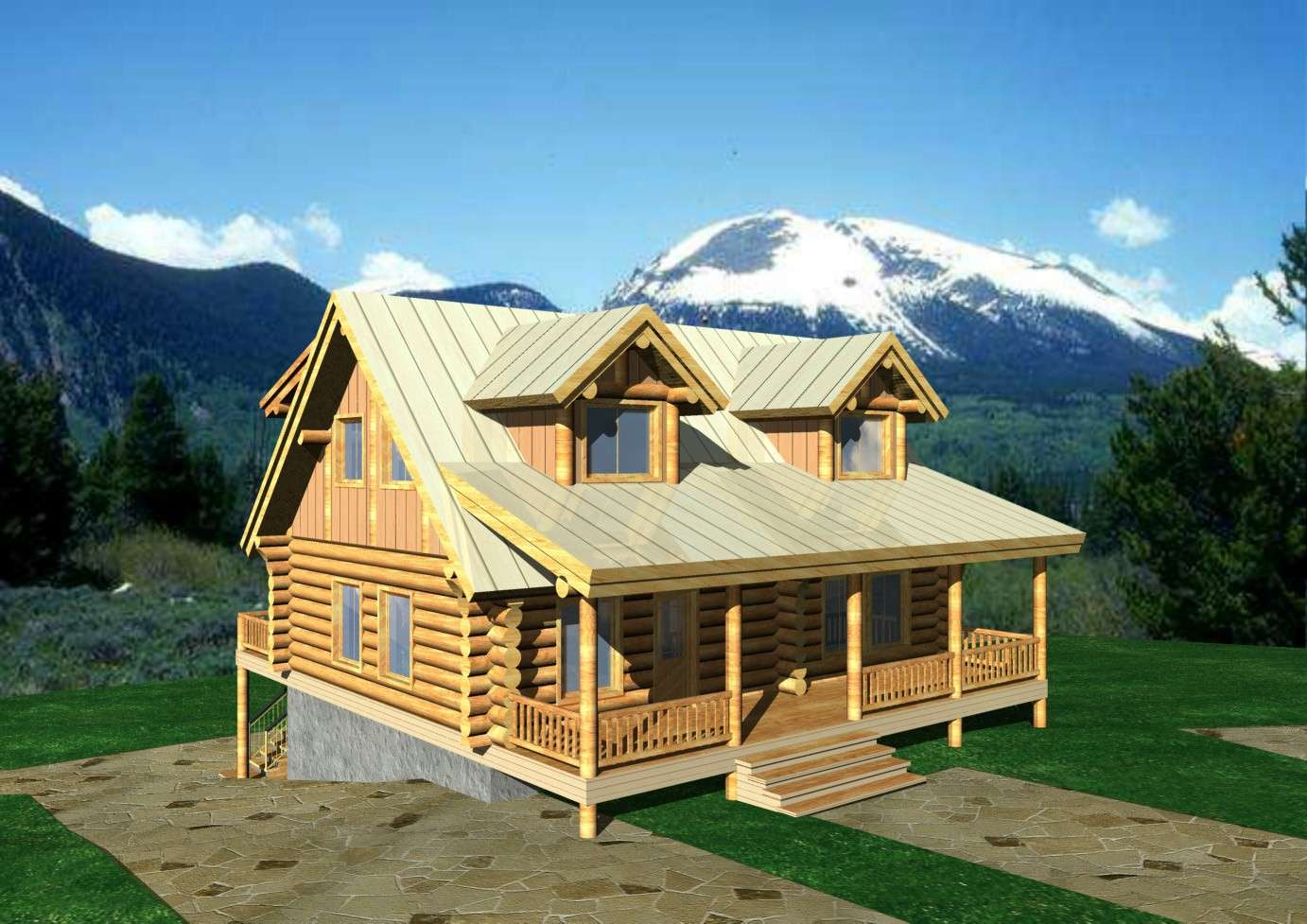 Classic Log Home Design Coast Mountain Homes
