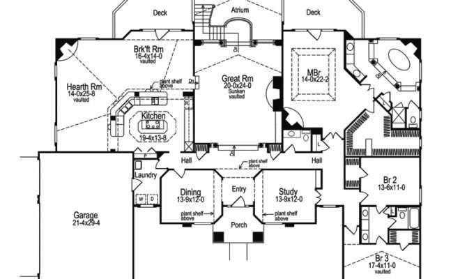 Clayton Atrium Ranch Home Plan House Plans