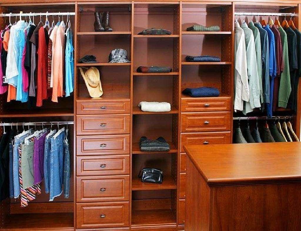 Closets His Her Walk Closet Organizers Custom