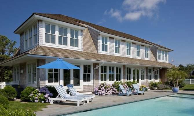 Coastal Beach House Tour Cape Cod Pool