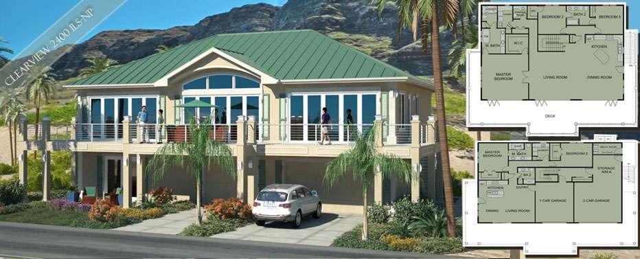 Coastal Home Designs Florida Beach House Plans
