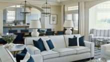 Coastal Shore Creations Navy White Living Rooms