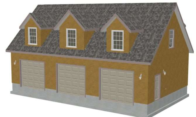 Cod Garage Plans Blueprints Bonus Room Dormers Sds