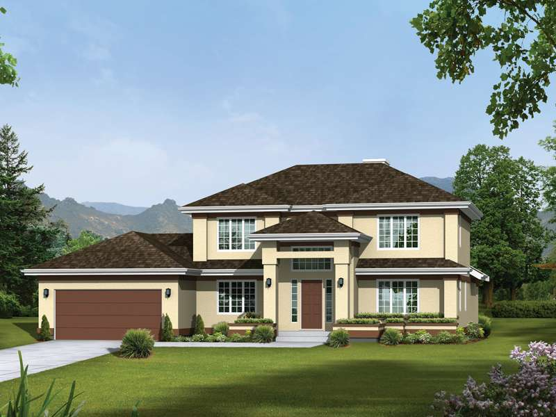 Colonade Prairie Style Home Plan House Plans