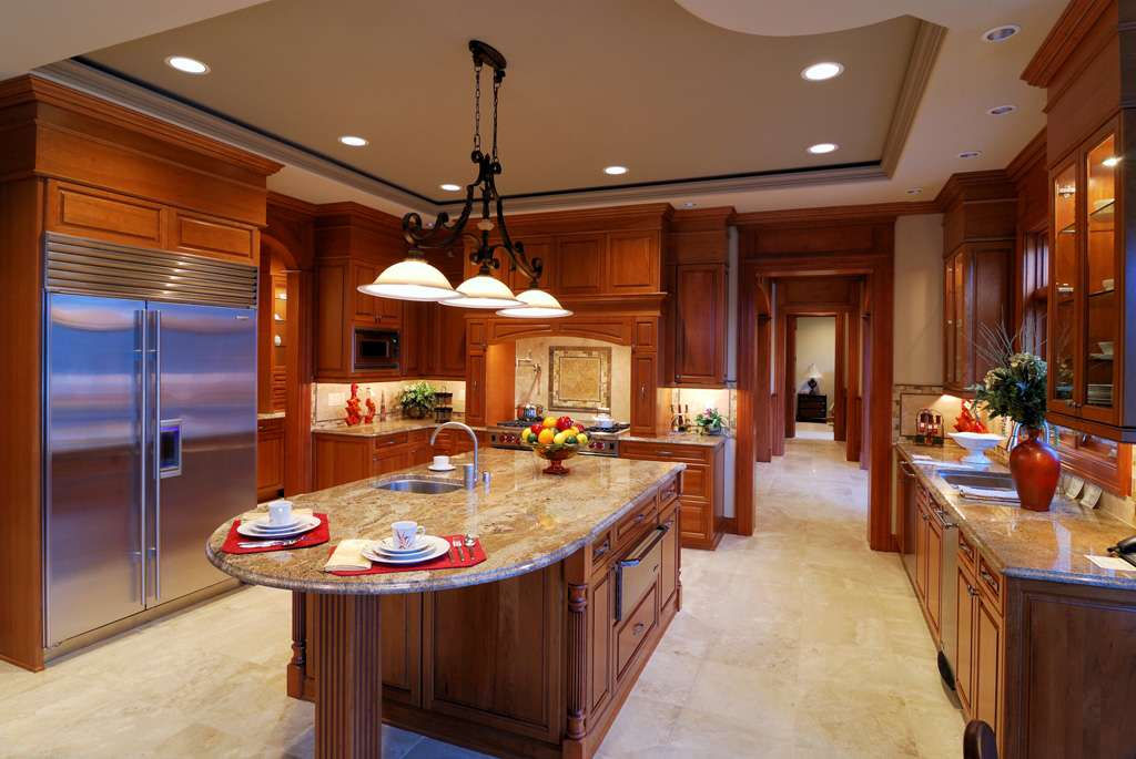 Colonial Cream Granite Kitchen Countertop Island Installed Finished