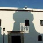 Colonial Facade Shadow Santo Domingo Dominican Republic