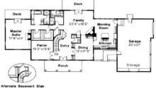 Colonial House Plan Clairmont Floor