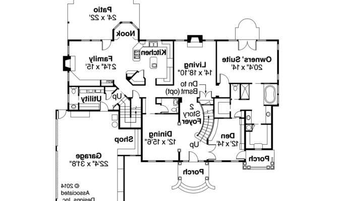 Colonial House Plan Palmary First Floor