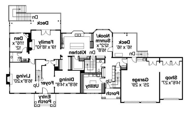 Colonial House Plan Princeton Floor