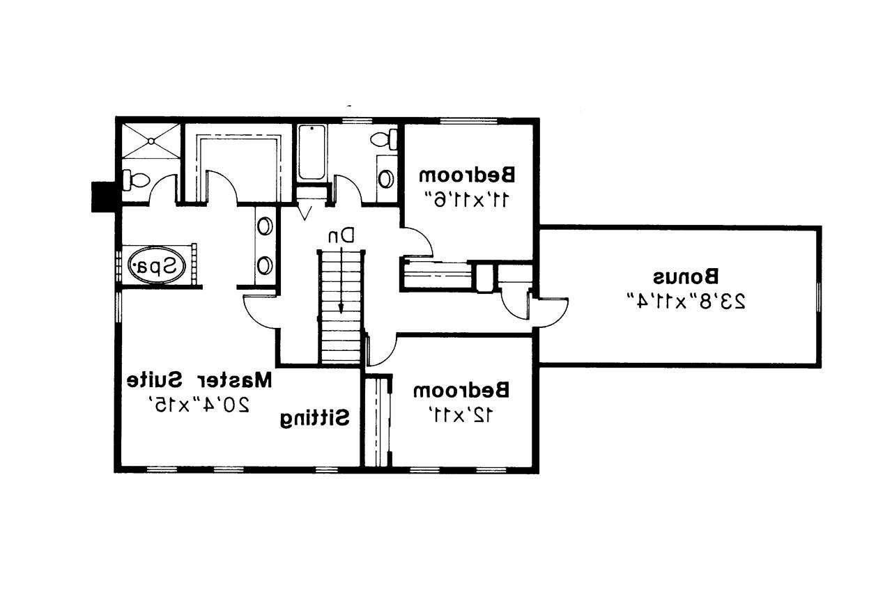 Colonial House Plan Westport Floor