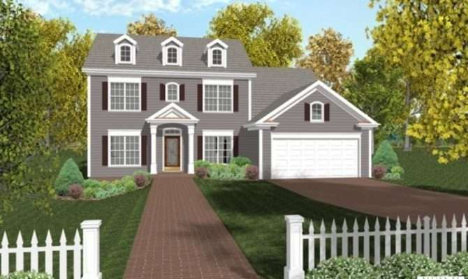 Colonial Style House Plans Design Bookmark