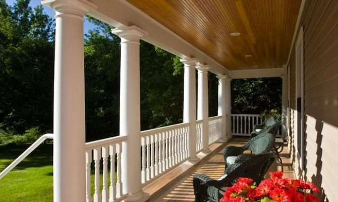 Colonial Style Porches America Period Brought Melting