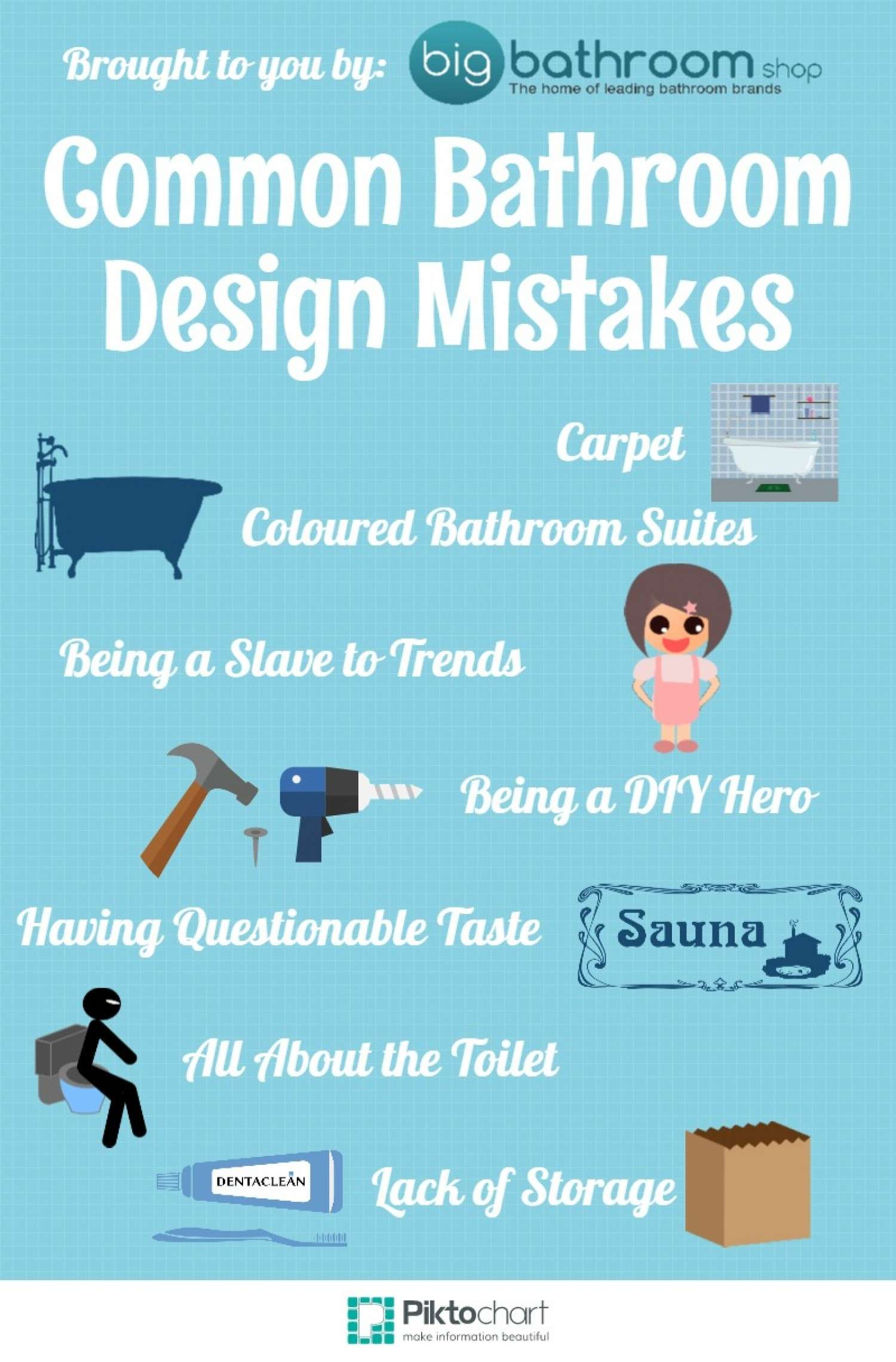 Common Bathroom Design Mistakes Visual