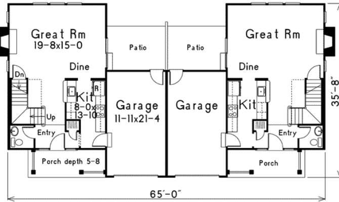 Compact Two Story Duplex Architectural Designs
