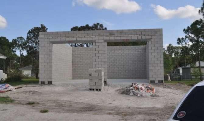 Concrete Block Garage Plan