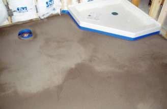 Concrete Floor Leveling Bathroom