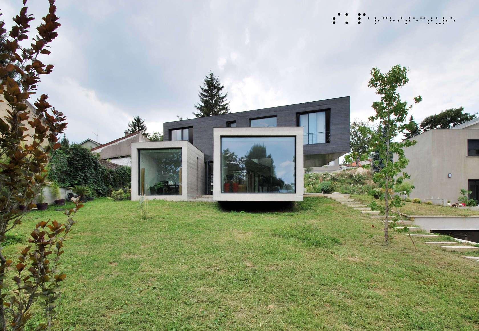 Concrete Glass House Architizer