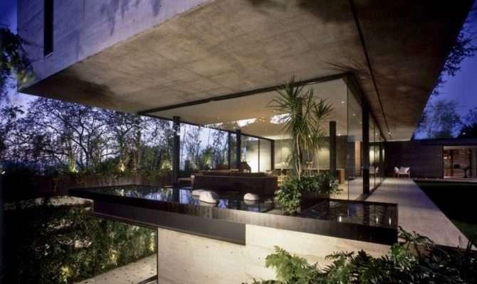 Concrete Glass House Mexico City Little Bennet