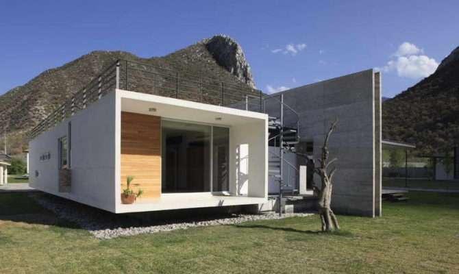 Concrete House Himalayas White Walls Modern