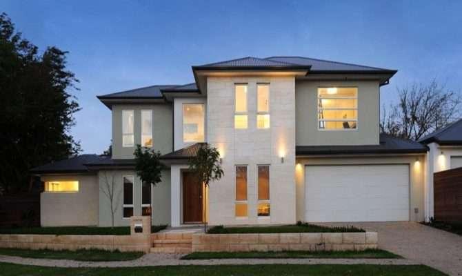 Concrete Modern House Exterior Brick Fence Feature