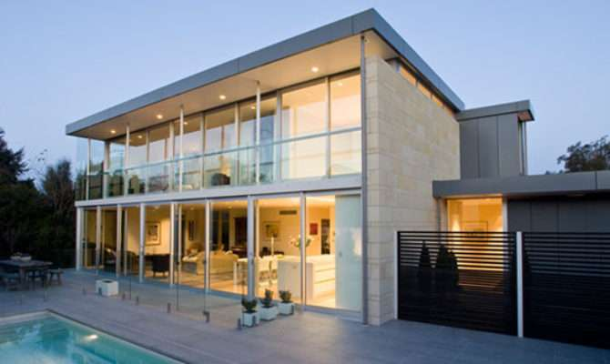 Concrete Structures Design Glass House Modern