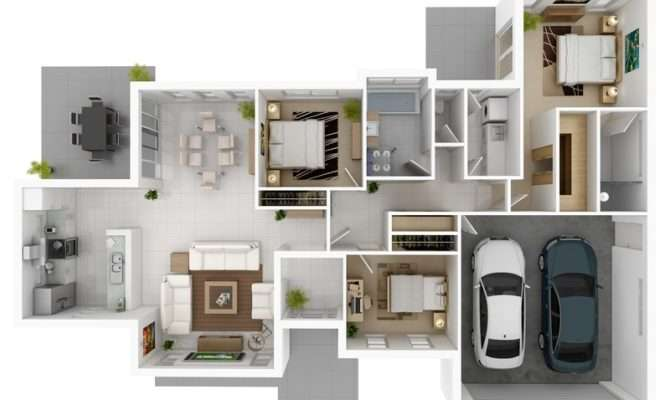 Consideration Gives Three Bedroom Design Space Two