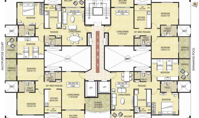 Simple Residential Building Designs And Plans Placement