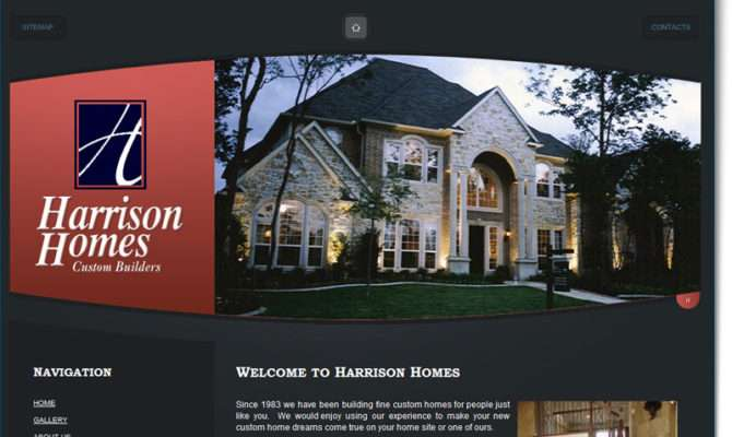 Construction Website Design Harrison Homes Your Web