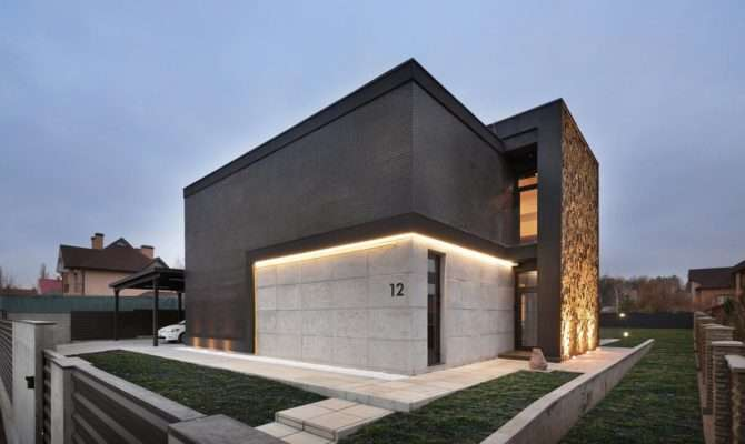 Contemporary Box Houses Design Sergey Makhno Kiev