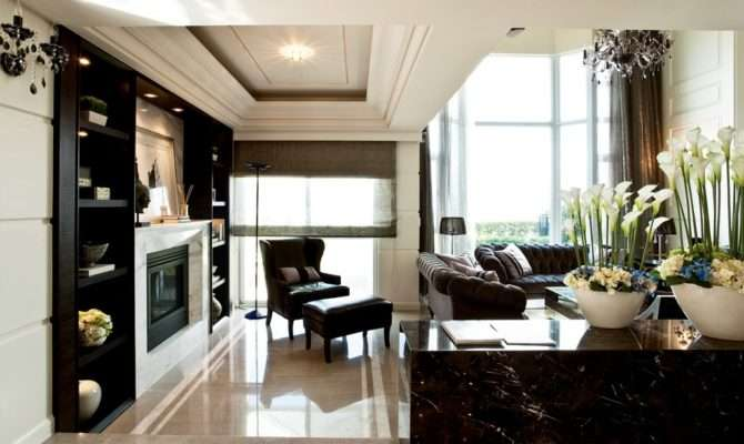 Contemporary Classic Home Sophisticated Living Room Interior