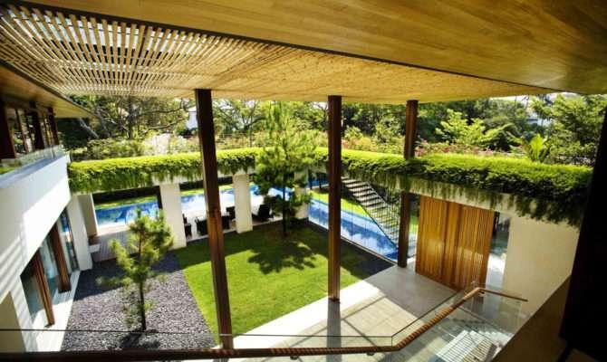 Contemporary Courtyard House Singapore Home Design