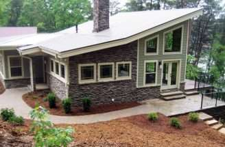 Contemporary Craftsman Modern Prairie Style House Plan Elevation