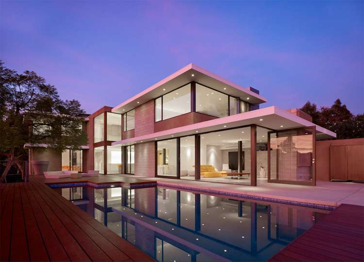 Contemporary House Indoor Outdoor Living Shiny California