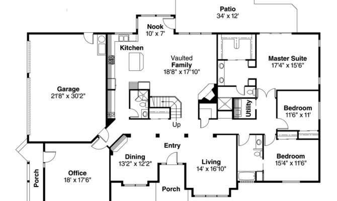 Contemporary House Plan Ainsley Floor