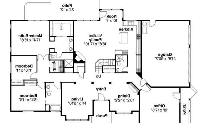 Contemporary House Plans Ainsley Associated Designs