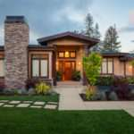 Contemporary Landscaping Western Style House Exterior