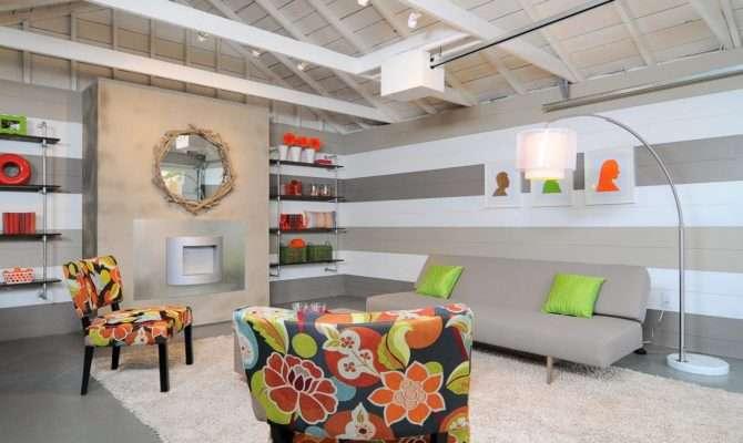 Contemporary Living Room Converted Garage Hgtv