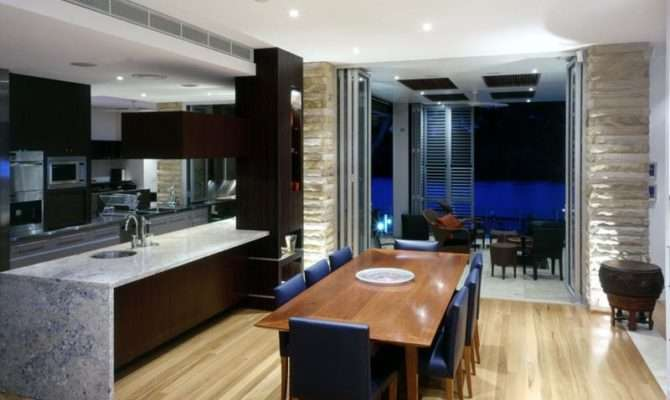 Contemporary Open Plan Dining Room Ideas Interior