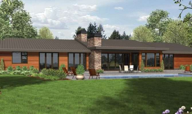 Contemporary Ranch Style Homes House Plans Modern Cottage