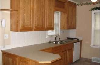 Contemporary Shaped Kitchen Design Ideas Brown Wooden