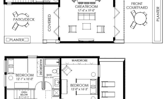 Contemporary Small House Plan Custom