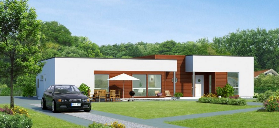 Contemporary Style Single Storied House