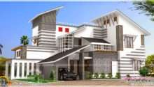 Contemporary Style Unique House Kerala Home Design Floor Plans