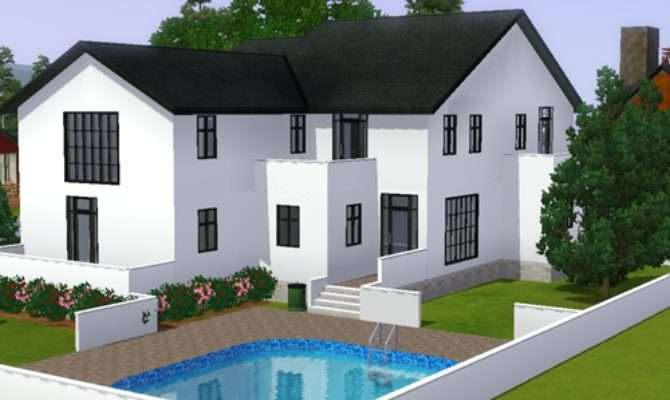 Cool Sims Modern Deluxe House