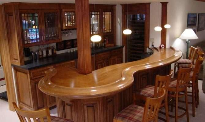 Corner Home Bar Plans Design