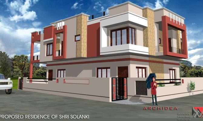 Corner House Designed Navneet Pandey Design Simple