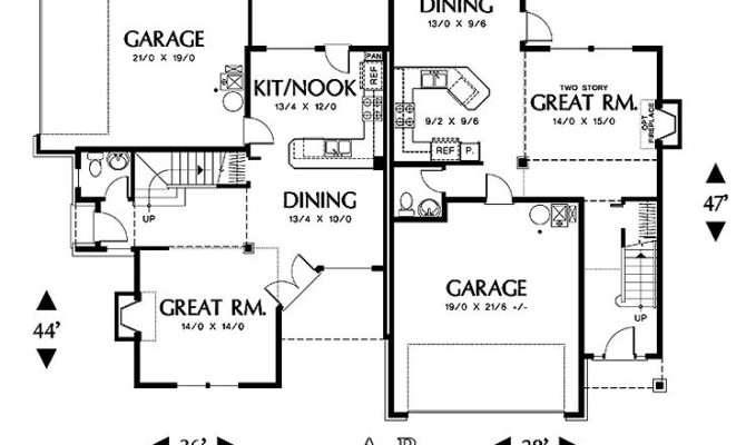 Corner Lot Duplex Residential Home Design Pinterest