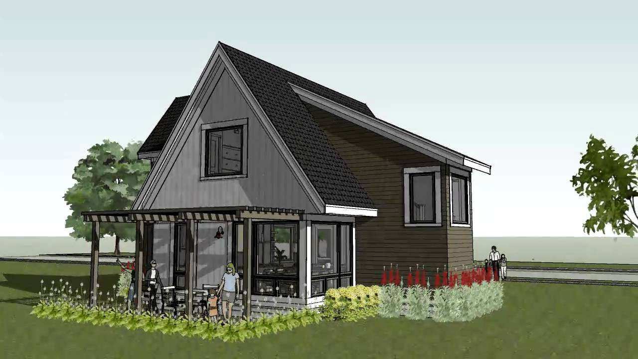 Cottage Cabin Beach Home Design Scandia Modern House Plan